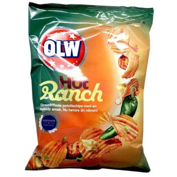 Olw Hot Ranch Chips 175g