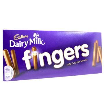 Cadbury Dairy Milk Fingers 114g/ Galletas con Chocolate