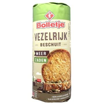 Bolletje Vezelrijk Zaden Beschuit 150g/ Fiber&Seeds Toasted Bread