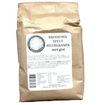 Boonacker Brood Broodmix Spelt Meergranen met Gist 1Kg/ Spelt Bread Multigrain Flour Mix