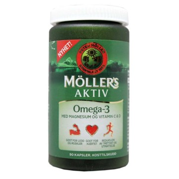 Möller's Aktiv Omega-3 Kapsler x90/ Capsules with Omega-3 and Vitamins