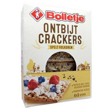 Bolletje Ontbijt Crackers Spelt Volkoren 240g/ Whole Grain&Spelt Crackers