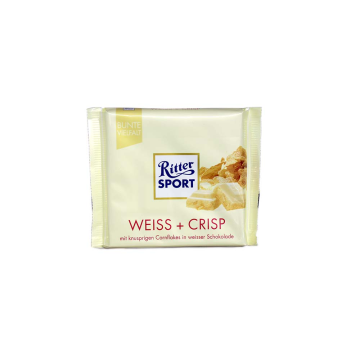 Ritter Sport Weiss & Crisp 100g/ Chocolate Blanco&Copos