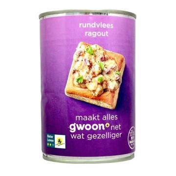 Gwoon Ragout Rundvlees 400g/ Ragú de Ternera