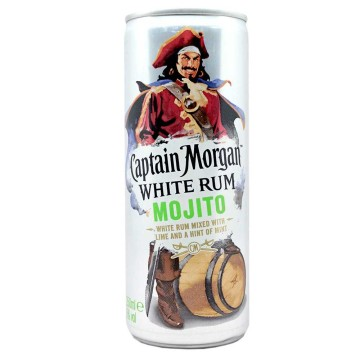Captain Morgan White Rum Mojito 5% 250ml/ Mojito Ron Blanco