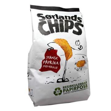 Sørlands Chips Spansk Paprika 195g/ Patatas sabor Pimentón