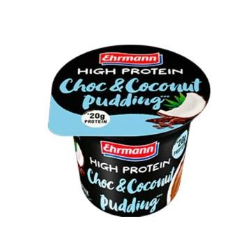 Ehrmann High Protein Choco&Coco Pudding 200g/ Pudin Proteínas Chocolate y Coco