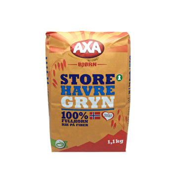 Axa Bjørn Havregryn Store 1,1Kg/ Whole Grain Oats