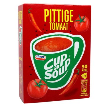 Unox Cup a Soup Pittige Tomaat x3/ Packet Soup Spicy Tomato