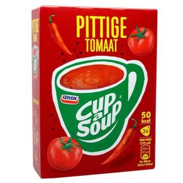 Unox Cup a Soup Pittige Tomaat x3/ Sopa de Sobre de Tomate Picante