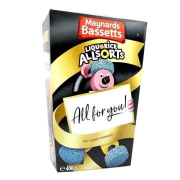 Maynard Bassetts Liquorice Allsorts 400g/ Golosinas de Regaliz