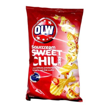 Olw Sourcream&Sweet Chili Potato Chips 275g