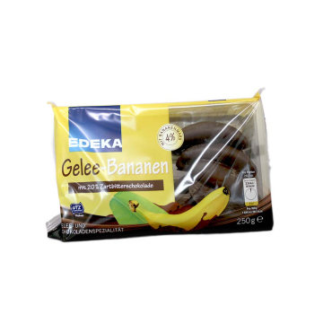 Edeka Gelee Bananen / Gelatina de Chocolate y Plátano 250g