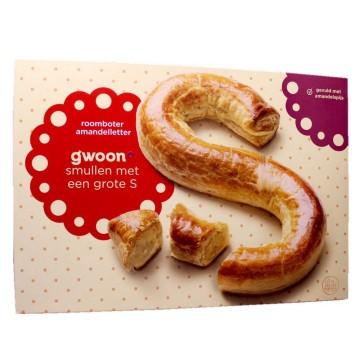 G'woon Roomboter Sint Amandelletter 500g/ Letra Rellena de Pasta de Almendra