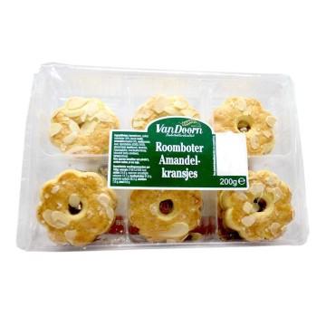 Van Doorn Roomboter Amandelkransjes 200g/ Butter Almond Cookies