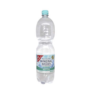 Gut&Günstig Mineral Wasser Medium 1,5L/ Agua con Gas