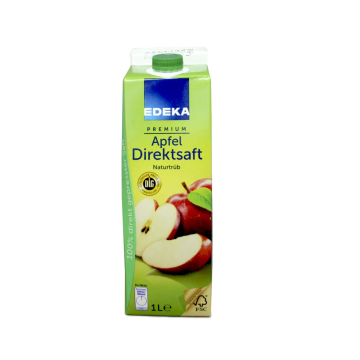 Edeka Premium Apfel Direktsaft Naturtrüb 1L/ Apple Juice
