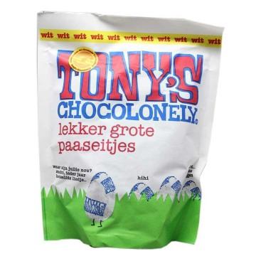 Tony's Chocolonely Paaseitjes Wit / Huevos de Pascua de Chocolate Blanco 180g