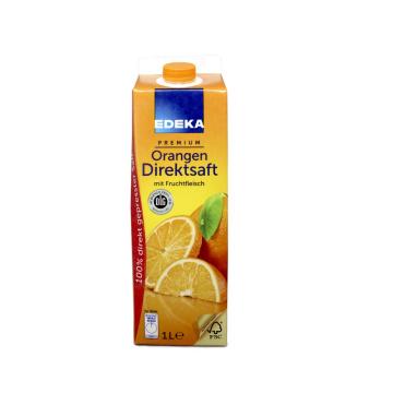 Edeka Premium Orangen Direktsaft mit Fruchtfleisch 1L/ Zumo Naranja Pulpa