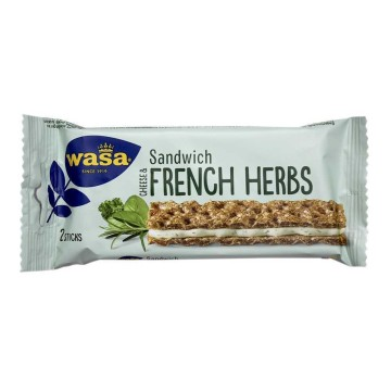 Wasa Sandwich Cheese & French Herbs x2/ Snack Queso y Finas Hierbas