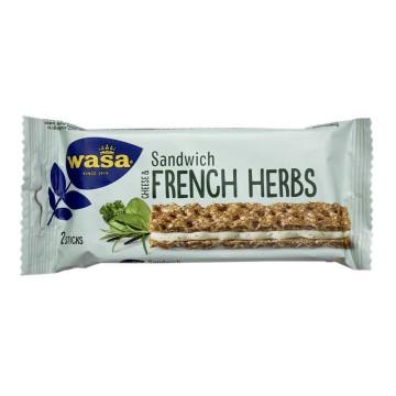 Wasa Sandwich Cheese & French Herbs x2
