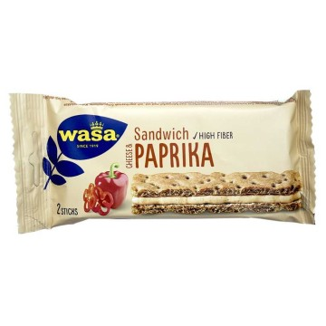 Wasa Sandwich Cheese & Paprika x2/ Snack Queso y Pimentón