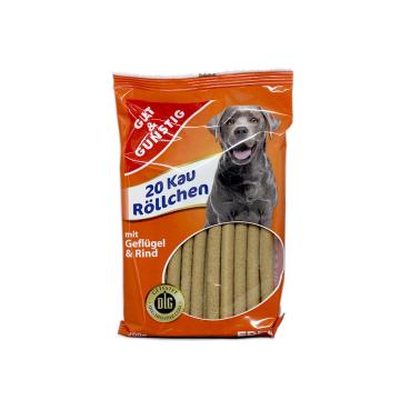 Gut&Günstig Kau Röllchen Geflügel&Rind / Comida para Perros con Carne de res y Aves de Corral x20