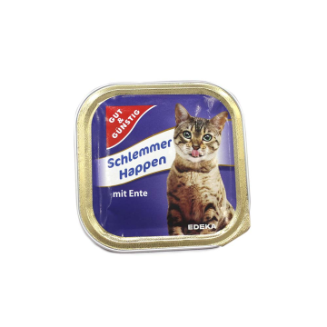 Gut&Günstig Schlemmer Happen mit Ente 100g/ Cat Food Turkey