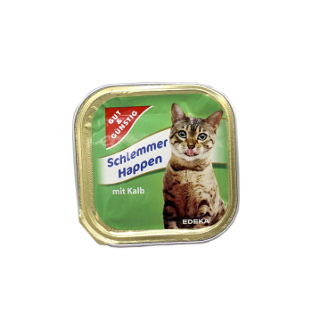 Gut&Günstig Schlemmer Happen mit Kalb 100g/ Cat Food Beef