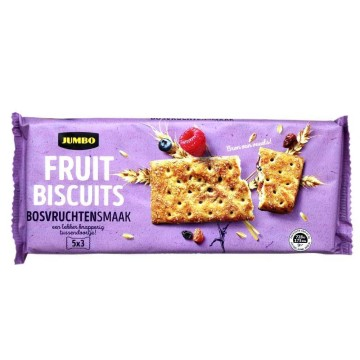 Jumbo Fruitbiscuits Bosvruchtensamaak 218g/ Galletas sabor Frutos del Bosque