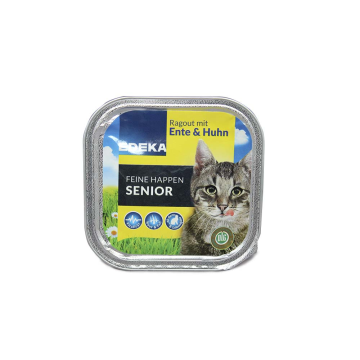 Edeka Feine Happen Senior 100g/ Cat Food Turkey&Chicken