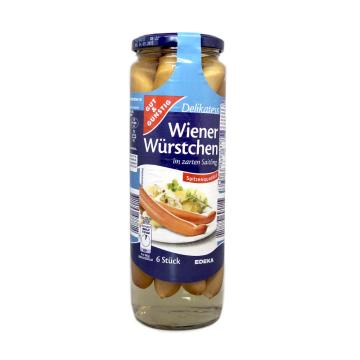 Gut&Günstig Wiener Würstchen im Zarten Saitling x6/ Salchicha Frankfurt