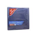 Gut&Günstig Uni-Servietten Blau x30/ Servilletas Azules