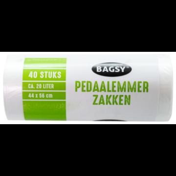 Bagsy Pedaalemmer Zak Handvatten Groot 20L/ Garbage Bags