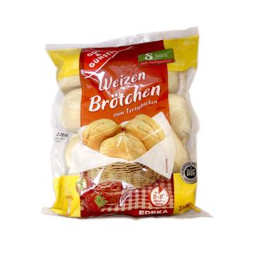 Gut&Günstig Weizen Brötchen zum Fertigbacken / Panecillos para Hornear x8