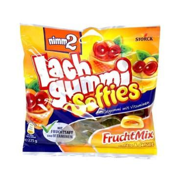 Nimm2 Lachgummi Softies Fruchtmix / Golosinas de Frutas Rellenas 225g