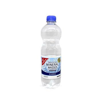 Gut&Günstig Natürliches Mineral Wasser 0,5L/ Agua Ligera Carbonatada