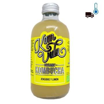 Komvida Organic Kombucha de Jengibre y Limón 250ml/ Drink with Ginger and Lemon