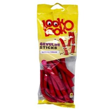 Look o Look Gevulde Sticks Kersen / Regaliz Relleno sabor Cereza 115g