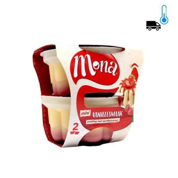 Mona Mini Vanillesmaak / Vanilla Pudding with Strawberry Sauce x2