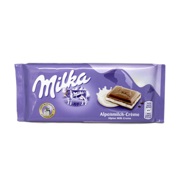 Milka Alpenmilch-Créme 100g/ Chocolate with Cream