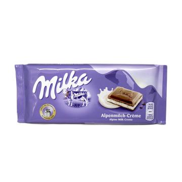 Milka Alpenmilch-Créme / Chocolate con Nata 100g