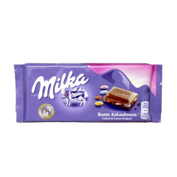 Milka Bunte Kakaolinsen 100g/ Chocolate with M&Ms