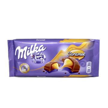 Milka Caramel / Barra de Chocolate con Caramelo 100g