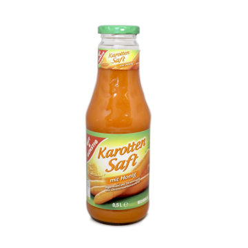 Gut&Günstig Karotten Saft mit Honig 0,5L/ Zumo de Zanahoria con Miel