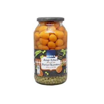 Edeka Junge Erbsen Pariser Karotten 660g/ Conserva de Guisantes y Zanahorias