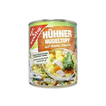 Gut&Günstig Hühner Nudeltopf mit Feinem Gemüse 800g/ Pasta, Chicken&Vegetable Stew