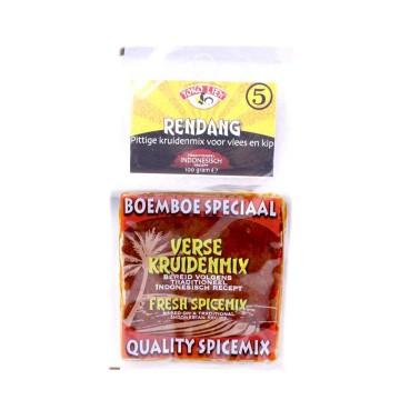 Toko Lien Rendang 5 Boemboe Especiaal / Pasta de Especias Picantes para Pollo 100g