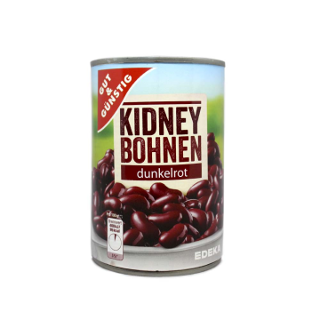 Gut&Günstig Kidney Bohnen Dunkelrot 400g/ Red Beans