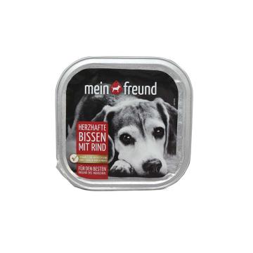 Mein Freund Herzhafte Bissen Rind / Comida para Perros de Ternera 300g